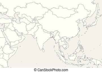Outline Western Asia Outline Map Of Western Asia Divided By The