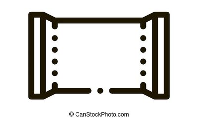 Blank Polymer Packaging Chocolate Bar animated black icon on white background