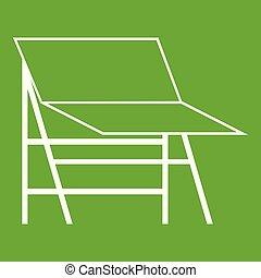 Blank portable screen icon green