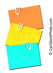 Blank post it notes ready for your text to be added