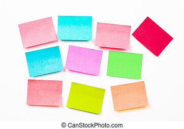 Blank post it notes or sticky note.