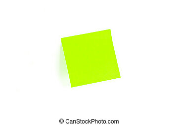 Blank Post-It With Shadow