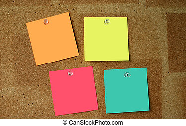 Blank post-its #3 - The surface of the post-its is ...