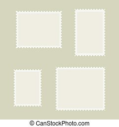 Blank post stamp