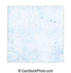 Blank postage stamp background textured isolated on white