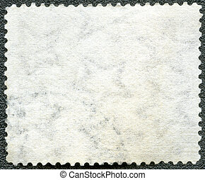 Blank postage stamp sheet on a black background
