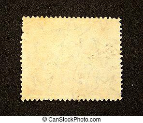 Blank postage stamp on black background...