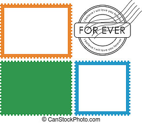 Blank postage stamp-Vector