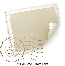 Blank Postage Stamp, vector
