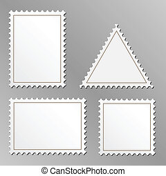 Blank postage stamps - Vector set of blank postage stamps...