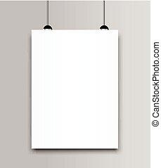 Blank poster bi fold brochure mockup cover template.