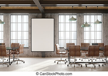 blank poster in conference room