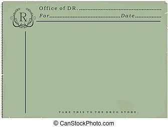 Blank prescription. - Blank vintage prescription. Vector...