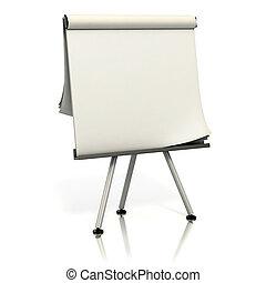 blank presentation board 3d illustration