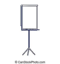 blank presentation board icon, flat design