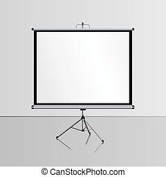 presentation screen blank whiteboard tripod projector for seminar