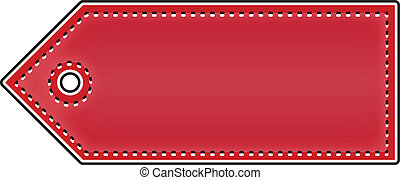 Price Tag - Blank Price Tag Isolated On White