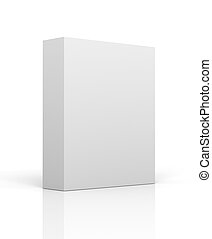 blank product box concept 3d illustration