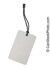 Blank Product Label Tag - Blank product info label isolated...
