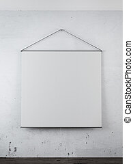 Blank projector on the wall