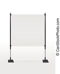 blank projector screen