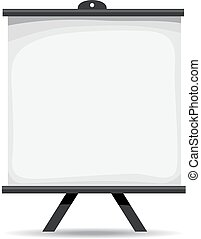 Blank Projector Screen - Vector Illustration of Projector...