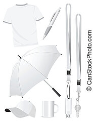 Blank promotion gift mock-ups - Illustration set of blank...