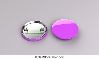 Blank purple badge on white background