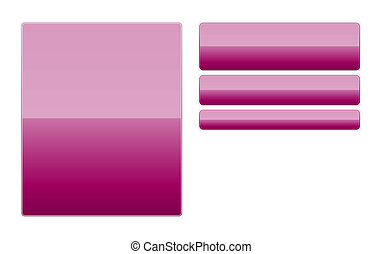 Blank purple glossy buttons