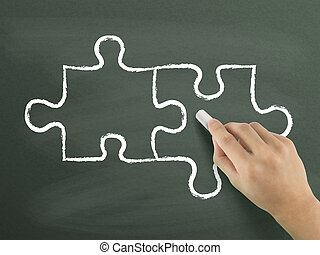 blank puzzle drawn by hand
