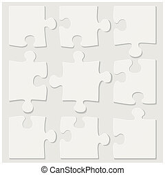 blank puzzle tiles