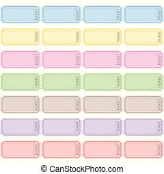 Blank Raffle Tickets Strip Tickets Different Colored Rows -...
