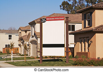 Blank Real Estate Community Sign. Ready for your own message