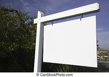 Blank Real Estate Sign in Neighborhood Ready for Your Own...