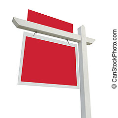 Blank Real Estate Sign with Room for Your Copy Isolated on...
