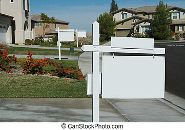 Blank Real Estate Signs