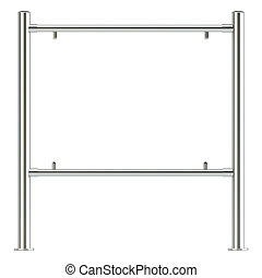 Blank realistic billboard, isolated on white