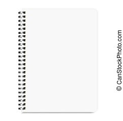 Blank Realistic Notebook Size A4 Isolated On White Background