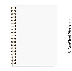 Blank Realistic Notebook Size A5 Isolated On White Background