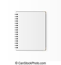 Blank realistic spiral notepad notebook isolated on white vector.