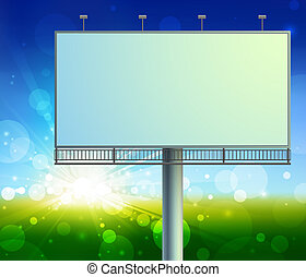 construction on green field background