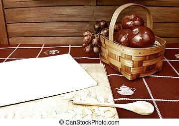Blank recipe notebook background