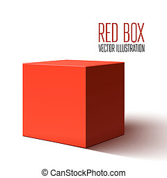 Blank red box isolated on white background
