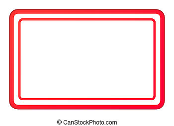 Blank red business stamp