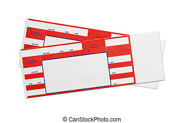 Blank Red Concert Tickets