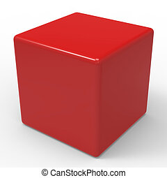 Blank Red Dice Shows Copyspace Cube Or Box - Blank Red Dice...