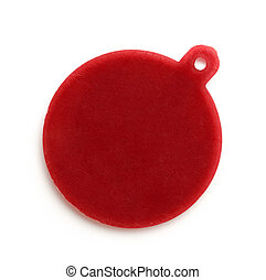 Blank red round badge