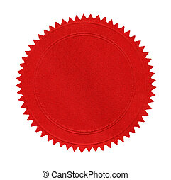 Blank Red Seal - Blank red seal, isolated on white.