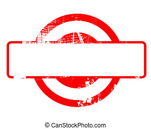 Blank red stamp