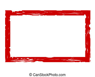 Blank red used stamp